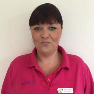 Clare Tedder, head of reception at YourVets