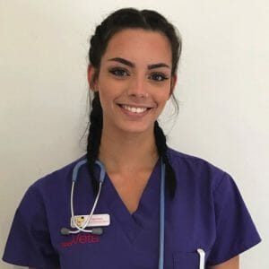 Ellia Davis, student veterinary nurse at YourVets